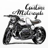 Kundenspezifische Motorradfahne Stockfotografie