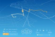 Kundenspezifische Navigationsanlage-Vektorillustration Stockbild