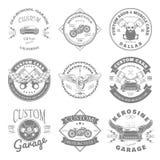 Kundenspezifischer Garagen-Aufkleber und Ausweis-Design Vektor Lizenzfreies Stockbild