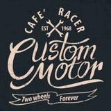 Kundenspezifischer Motor typografisch für T-Shirt, T-Stück Design, Plakat, Vektor IL stock abbildung