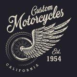 Kundenspezifisches Motorradlogo der Weinlese Stockfoto