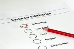 Kundenzufriedenheitsumfrage lizenzfreie stockfotos
