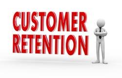 Kundenzurückhalten des Geschäftsmannes 3d Lizenzfreies Stockfoto