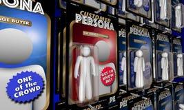 Kundimage som uppsätta som mål bästa ideala köparehandlingdiagram 3d Il Royaltyfri Foto