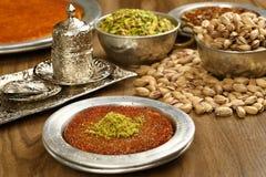 Kunefe/турецкий традиционный десерт Стоковые Фотографии RF