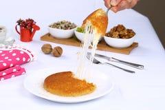 Kunefe/турецкий традиционный десерт Стоковое фото RF