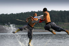 Kung chinês Fu Imagens de Stock