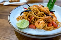 Kung de mun de Tom de spaghetti yum images libres de droits