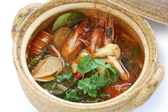 Kung do yam de Tom, culinária tailandesa fotos de stock