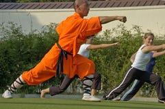 Kung fu实践,著名中国体育 库存图片