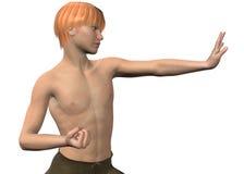 Kung Fu - τρισδιάστατο Στοκ Εικόνες
