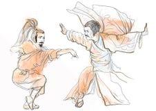 Kung fu Arkivbild