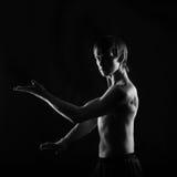 Kung Fu athletes do kata Royalty Free Stock Photography