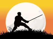 Kung-Fu chinês Ilustração do Vetor