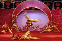 Kung fu dancing. Kung fu with dance and wonderful performances Royalty Free Stock Photography