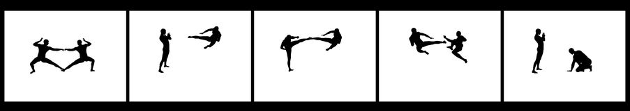 Kung Fu Fighting Sequence royalty free stock images