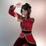 Kung-fu girl Stock Photos