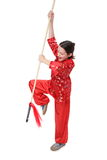 Kung fu girl final blow Royalty Free Stock Photos