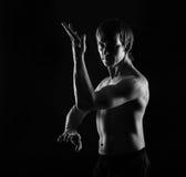 Kung Fu kata. Self-defense. Stock Photos
