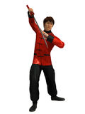 Kung Fu krigare Royaltyfri Bild