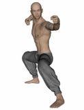 Kung Fu Monk Royalty-vrije Stock Afbeelding