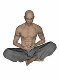 Kung Fu Monk Stock Photo