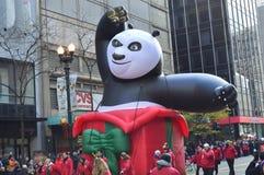 Kung Fu Panda. Chicago, Illinois - USA - November 24, 2016: Kung Fu Panda in McDonald's Thanksgiving Parade Stock Images