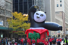 Kung Fu Panda na parada da ação de graças do ` s de McDonald Fotografia de Stock