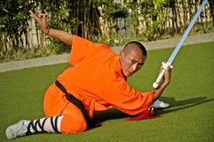 Kung fu practice, a famous Chinese sport. Stock Photography