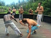 Kung Fu practice - Yoga Barn Stock Image