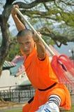 Kung fu praktyka, sławny Chiński sport Zdjęcie Royalty Free