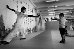 Kung Fu School royalty-vrije stock afbeelding