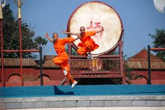 Kung fu show royalty free stock image