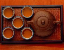 kung fu tea set Stock Photos
