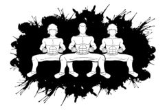 Kung Fu-vechter, grafische het beeldverhaal van de Vechtsportenactie stock illustratie