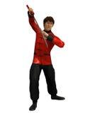 Kung Fu wojownik Obraz Royalty Free