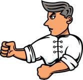 Kung Fu wojownika postać z kreskówki Fotografia Royalty Free