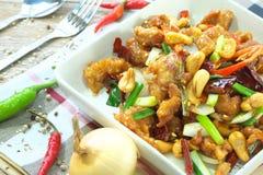 Kung Pao泰国食物 免版税库存照片