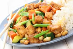 Kung Pao Chicken. Chinese food Stock Photos