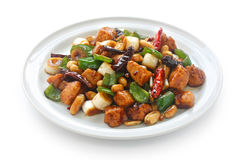 Kung pao chicken, chinese food. On white background Stock Image
