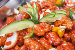 Kung Pao chicken chinese meal at a buffet Royalty Free Stock Photo
