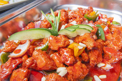Kung Pao chicken chinese meal at a buffet Stock Photos