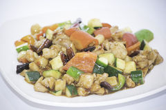 Kung Pao Chicken. In Chinese restaurant Royalty Free Stock Photos