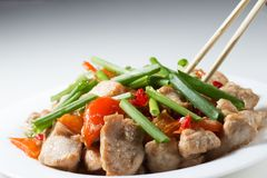 Kung pao chicken close up Stock Photography