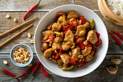 Kung Pao Chicken. Delicious Kung Pao Chicken with peppers, celery and peanuts Stock Images