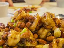 Kung Pao Chicken. Ate at Los Angeles, California, United States Stock Images