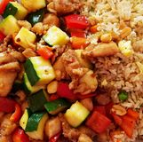 Kung Pao Chicken With Sauce photos stock