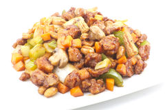Kung Pao Chicken. Spicy chinese food, Kung Pao Chicken with peanuts Royalty Free Stock Image