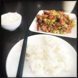 Kung Pao Chicken Royalty Free Stock Photography