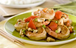 Kung Pao Shrimp Royalty Free Stock Photography